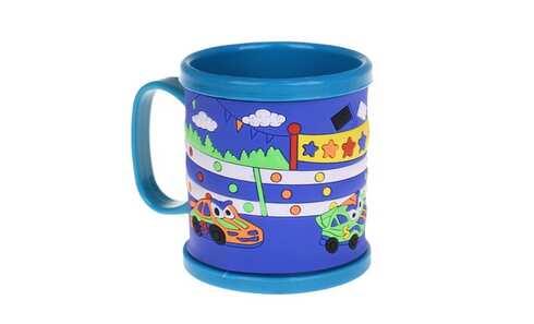 obrázek Hrnek dětský plastový (modrý s auty)