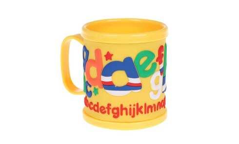 obrázek Hrnek dětský plastový (žlutý abeceda)