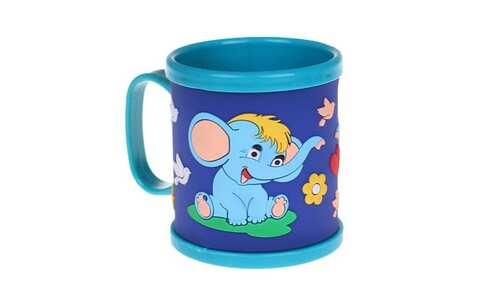 obrázok Hrnček detský plastový (modrý slon)
