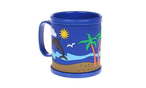 obrázok Hrnček detský plastový (modrý s delfínom)