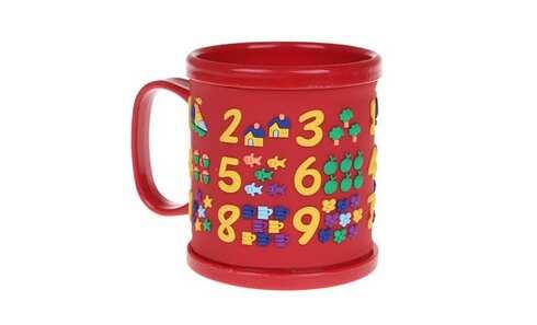 obrázek Hrnek dětský plastový (červený s čísly)