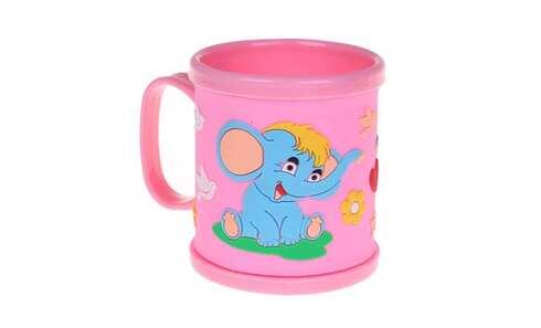obrázek Hrnek dětský plastový (růžový se slonem)