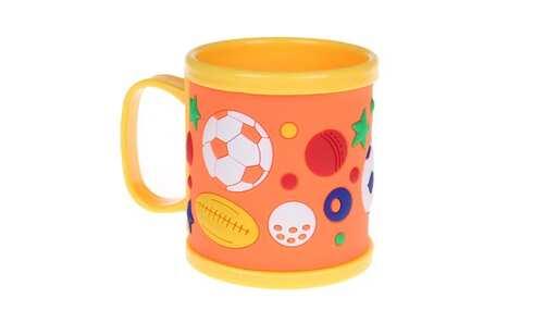 obrázek Hrnek dětský plastový (žlutý s míči)