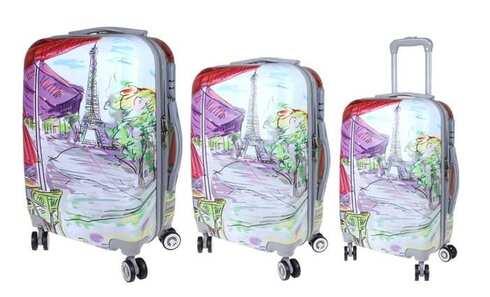 obrázek Sada 3 skořepinových kufrů (Art)