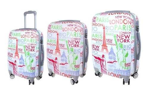 obrázek Sada 3 skořepinových kufrů (City - bílá)