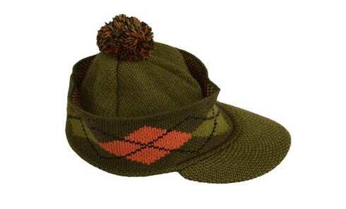 obrázek Pánská zimní čepice s kšiltem zelená