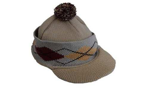 obrázek Pánská zimní čepice s kšiltem hněda