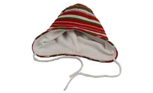 obrázek Čepice dětská zimní červeno-zelená