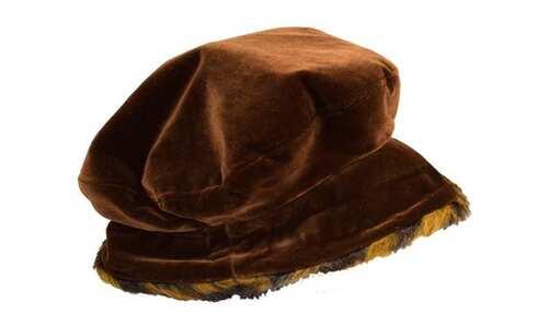 obrázok  Klobúk semišový tmavo hnedý