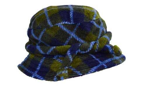 obrázek Klobouk fleecový modro-zelený