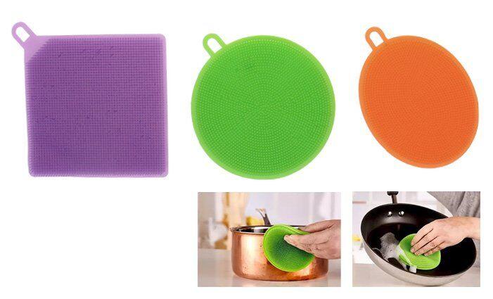 Silikonové houbičky na nádobí