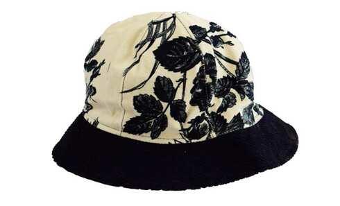 obrázek Klobouk květovaný černo-bílý