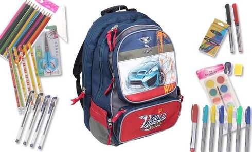obrázek Batoh CAR s náplní školních potřeb