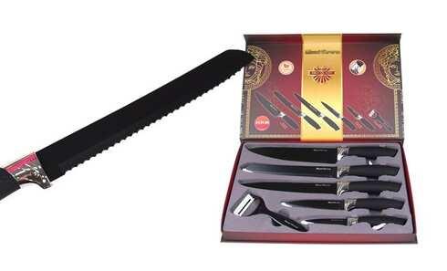 obrázek Sada 5ti nožů se škrabkou - černá