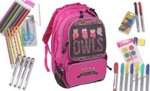 obrázok Batoh OWLS s náplňou školských potrieb