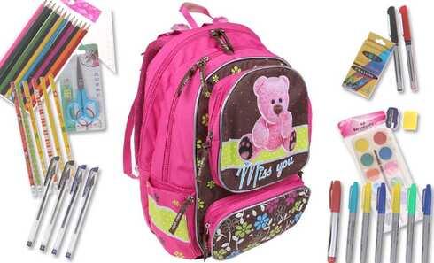 obrázek Batoh MISS YOU s náplní školních potřeb