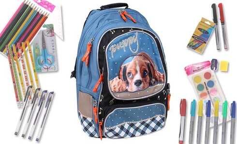 obrázek Batoh PUPPY s náplní školních potřeb