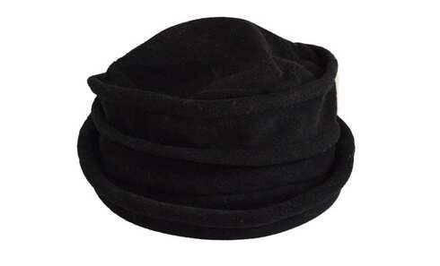 obrázek Klobouk fleecový černý vzor 1
