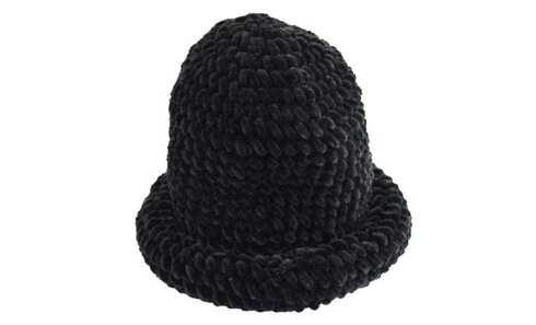 obrázok  Klobúk čierny pletený