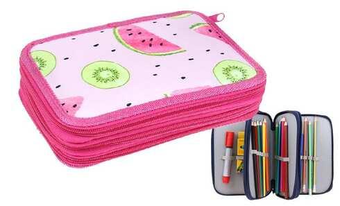 obrázek Penál 3patrový růžový meloun + školní potřeby