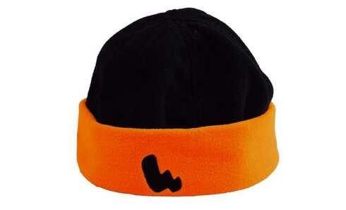 obrázek Čepice fleecová černo-oranžová