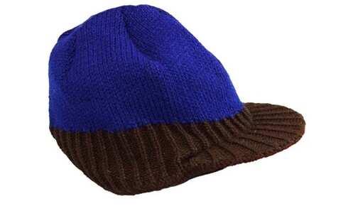 obrázok  Šiltovka pletená modro-hnedá