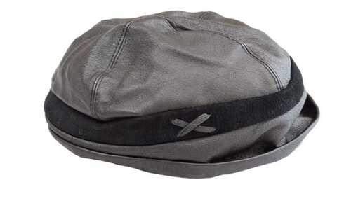 obrázok  Klobúk čierny kožený