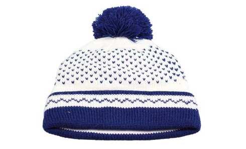obrázek Čepice zimní modro-bílá