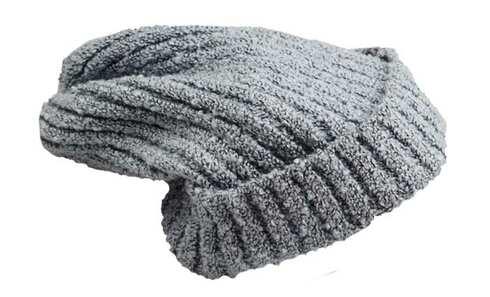 obrázek Čepice pletená melírovaná černo-bílá