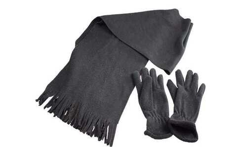 obrázek Šála s rukavicemi černá