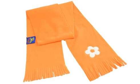 obrázek Šála oranžová s výšivkou