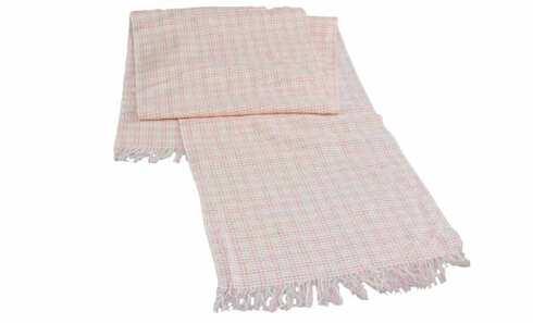 obrázek Šála kostkovaná růžovo-bílá