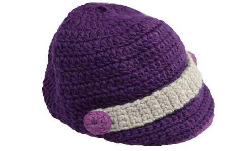 obrázek Čepice pletená fialová