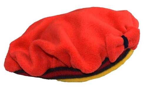 obrázek Čepice fleecová červená s mašlí