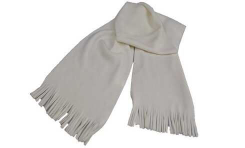 obrázek Šála bílá fleecová