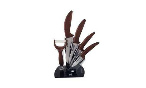 obrázek Keramické nože se stojánkem – Imeprial Collection - červené