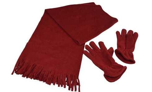 obrázok  Šál s rukavicami červená