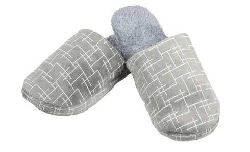 obrázek Pantofle zateplené šedé geometrický vzor 42/43,44/45