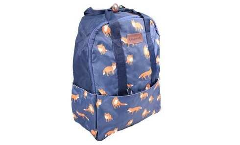 obrázek Batoh modrý s liškami