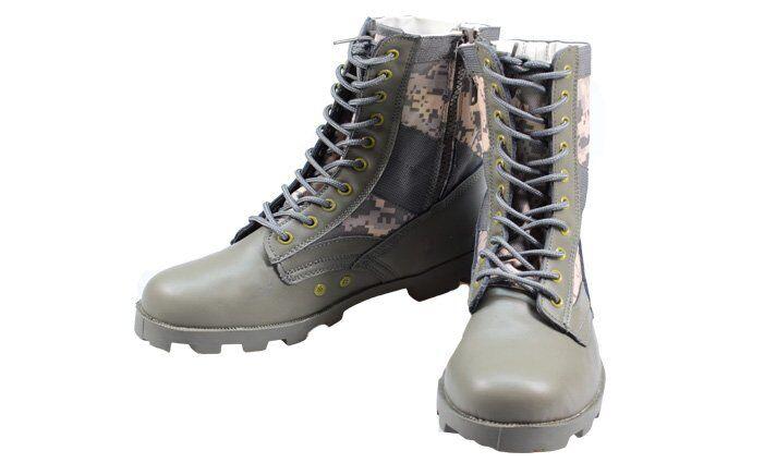 Boty vysoké maskáčové zelené vel. 41