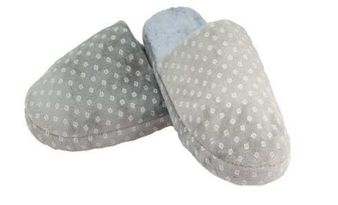 obrázek Pantofle zateplené šedé s kosočtverci vel.44/45