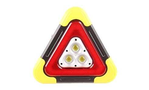 obrázok Multifunkčný výstražný solárny LED trojuholník
