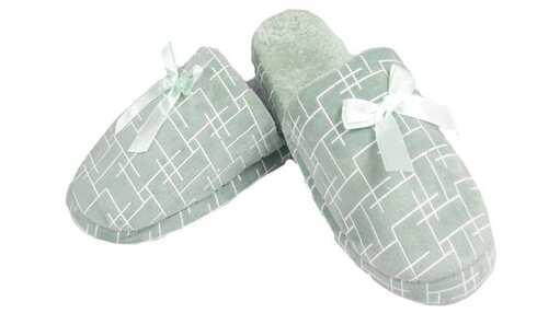 obrázek Pantofle zateplené zelené geometrický vzor vel.38/39