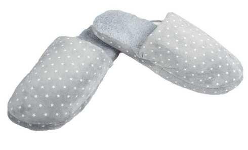 obrázek Pantofle zateplené šedé s hvězdičkami vel.44/45