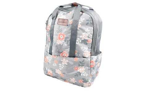 obrázek Batoh šedý s květy
