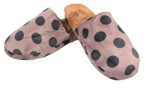 obrázek Pantofle zateplené hnědé s puntíky vel.42/43