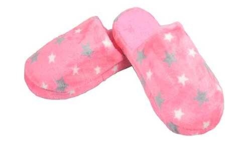 obrázok  Papuče zateplené ružové s hviezdami