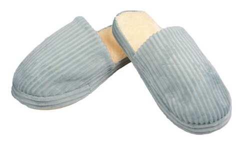 obrázek Pantofle zateplené zelené pruhované vel.40/41
