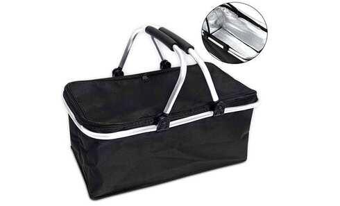 obrázek Termo skládací nákupní košík s víkem černý