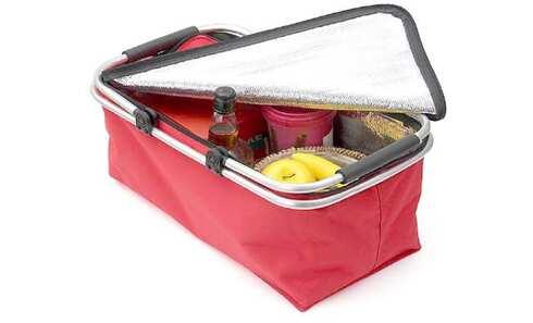obrázek Termo skládací nákupní košík s víkem červený